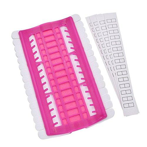 SODIAL 30 Positions Cross Line Line Set di strumenti Ago Holder Filo da ricamo Filo Organizer Strumenti per cucire DIY rosa rossa