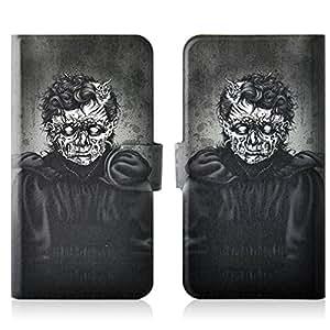 Generic Terrorist Black Skull PU Leather Flip Case Cover For Xiaomi Note Millet MIUI note