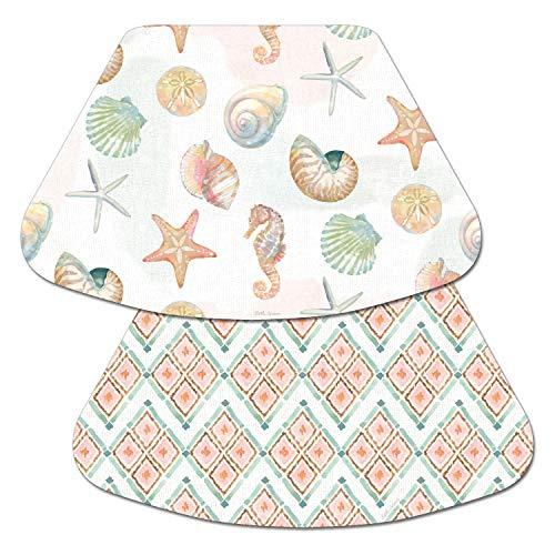 (Counterart Reversible Wedge Placemat - Seashells Watercolor Coast)