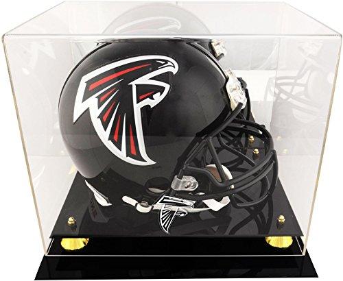 Mounted Memories Atlanta Falcons Golden Classic Helmet Display Case and Mirror ()