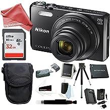 [Patrocinado] Nikon Coolpix S7000 16 MP Digital Camera (Black) + 32GB Memory Card + Rechargeable Replacement Lithium Ion Battery + Travel Quick Charger + Medium Point & Shoot Camera DigitalAndMore Accessory Bundle