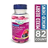 SoundHealth Extra Strength Heartburn and Gas Relief Chews, Mixed Berry Flavor, 82 Count Bottle