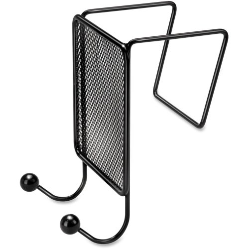 Fellowes Mesh Partition Additions Double Coat Hook - 2 HookMetal - Black (Additions Coat Partition Fellowes Hook)