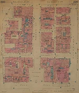 The Mall London Map.Goad Map Sw1 Regent St Charles Ii Pall Mall Jermyn Haymarket