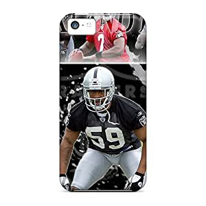 Awesome Zux1275WwSk Qqoo Defender Tpu Hard Case Cover For Iphone 5c- Oakland Raiders
