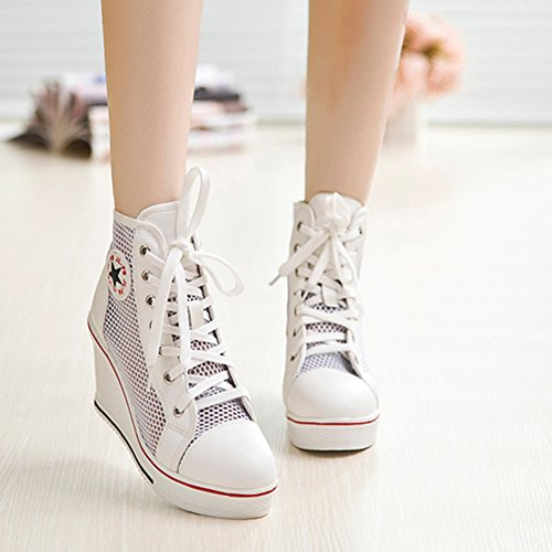 Blanc Deporte de Padgene Zapatillas Maille Mujer n1w0nx7Azq