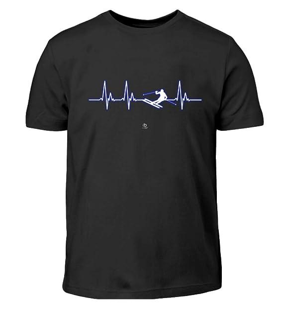 9cda4f173aafa6 EBENBLATT Battito Sci Sciatore Hobby Sport Alpinismo Regalo - T-Shirt per  Bambini: Amazon.it: Abbigliamento