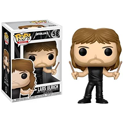 Funko Pop! Rocks: Metallica - Lars Ulrich Collectible Figure: Metallica, Lars Ulrich: Toys & Games
