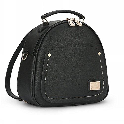 Bolsos de cuero PU de la parte posterior de la hembra Mini bolso de la mochila del bolso del bolso Pequeño bolso de Crossbody Rojo Bolsos Mochila Negro Bolsos Mochila