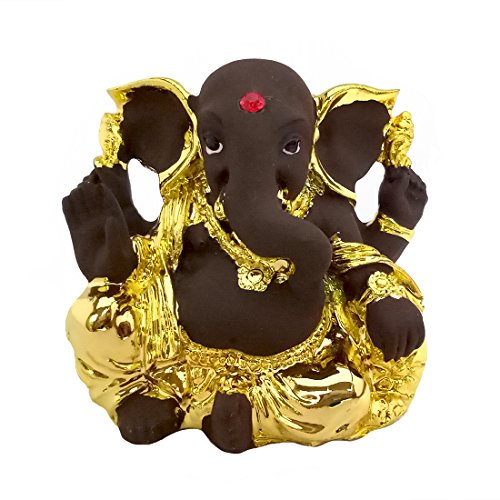Murti Sculptures - Icrafts India Aheli Beautiful Ganesh Ganesha Ganpati Murti Idol Statue Sculpture for Car Home Puja Office Decor
