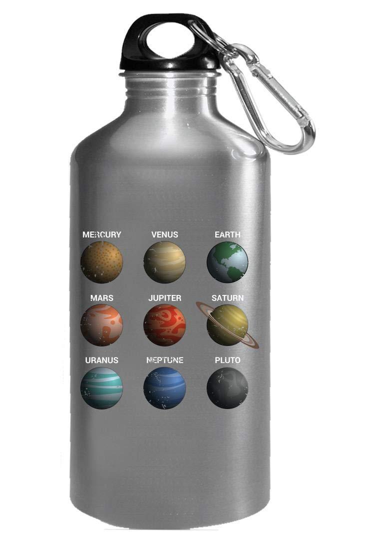 Funny Solar System - Nine Planets - Humor - Water Bottle