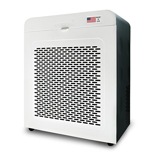 (Oransi EJ120 Hepa Air Purifier with Carbon Filter, White/Black)