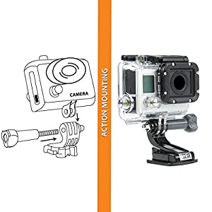 9-in-1 Professional Action Camera Mount Bundle Kit by USA Gear - Works With GoPro HERO5 Black , HERO5 Session , Sony 4K Action Camera FDR-X3000 , Garmin VIRB Ultra 30 and More Action Cams from USA Gear