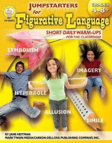Jumpstarters for Figurative Language, Grades 4 - 8 - Figurative Language Grade 4