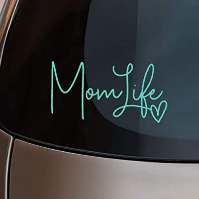 """Mom Life Car Decal- Pink, Mint Green, or White - Cute Sticker for Moms - 6"""" Size for Laptop or Window (Mint): Arts, Crafts & Sewing"""