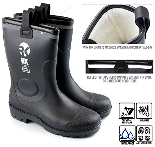 insulated waterproof rubber boots - 3