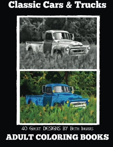 Adult Coloring Books Classic Trucks product image