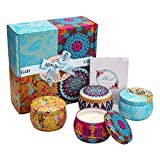 YMingUK Scented Candles Gift Sets-120 Hours Burn Time 100% Natural Soy Wax Portable Travel Tin Candle for Negativity, Unwanted Energies, Purifies, Cleanses & Banishes