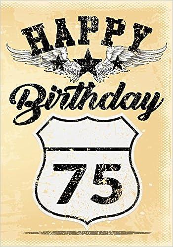 Buy Happy Birthday 75 Gifts For Men Journal Notebook Year Old Journaling Doodling Keepsake Book Online At