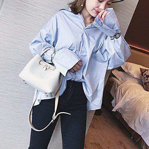 KPHY-Bolso Pequeño Nuevo Portatil Cubo Bun Madre Bolsa Bolsa Marea De Moda Bolso Messenger BagLight Grey Light grey