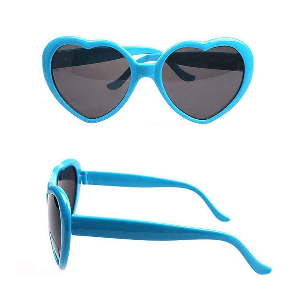 heresell Moda Donna Occhiali da Sole a Forma di Cuore Occhiali da Sole per Accessori Fancy Candy Colorati Occhiali da Sole UV Occhiali da Sole per Viaggi Casuali