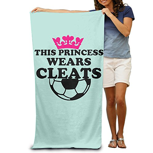 ^GinaR^ 300g This Princess Wears Cleats Soccer Girl Lightweight Fiber Reactive Beach Towel by ^GinaR^ Manu
