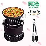: Air Fryer Accessories Deep Fryer Gowise Phillips and More, 6-pieces Air Fryer Baking Pan Skewer Rack Barrel Silicone Mat Set Fit all 3.7QT &5.3QT & 5.8QT, Best Christmas Gift (2017 Upgrade)