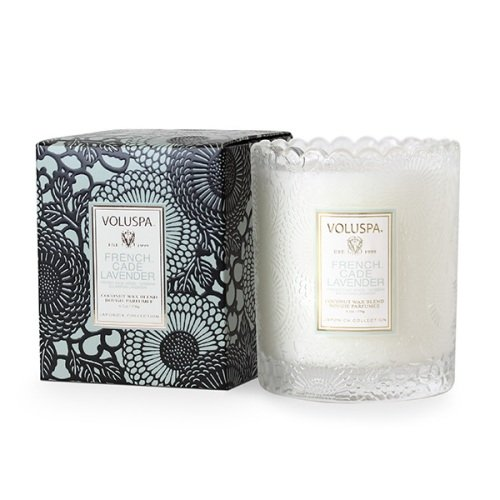 Voluspa Japonica Collection, Scalloped Edge Glass Candle, Fr