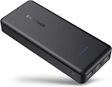 Portable Charger RAVPower 22000mAh Power Bank External Battery Pack with 5.8A Output 3 iSmart USB Ports Compatible with iPhone 11 Pro Max 8 X XS Samsung Galaxy S10 Note10