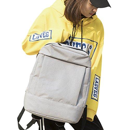 JUND Unisex Oxford-Gewebe Schultasche Herren Fashion Freizeit Backpack Einfarbig Handtaschen Business Laptop Rucksack 14 6 Zoll grau