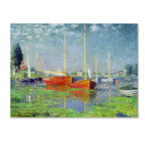Argenteuil by Claude Monet work, 18 by 24-Inch Canvas Wall ()