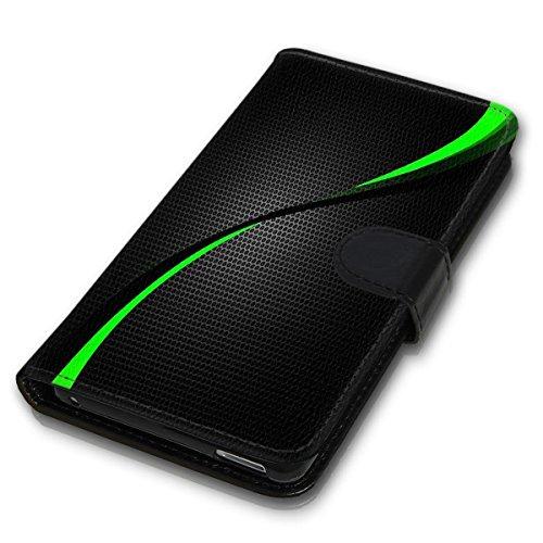 Wallet Book Style Flip Handy Tasche Case Schutz Hülle Schale Motiv Etui für Apple iPhone 5 / 5S - Design Flip MVD287