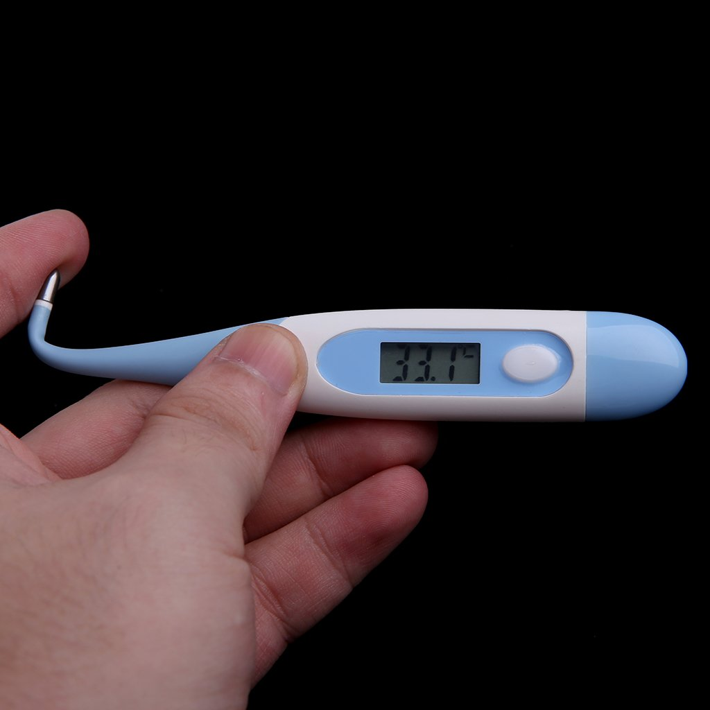Blau FXCO Baby Pflegeset 10-teiliges Set Neugeborenes Baby Kinder Nagelhaar Gesundheitswesen Thermometer Pflege Pinsel Kit