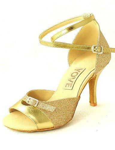 Chaussures à or en talon de argent similicuir salsa ShangYi femmes personnalisables danse noir latin personnalisé rouge pour bleu rTrxqwvSf