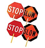 3A Safety Aluminum Stop/Slow Paddle - Engineer grade, 70 candle light - Stop