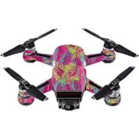 Skin For DJI Spark Mini Drone – Magenta Summer | MightySkins Protective, Durable, and Unique Vinyl Decal wrap cover | Easy To Apply, Remove, and Change Styles | Made in the USA