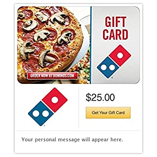 Dominos Pizza Email Gift Card (B00MV9H52E) | Amazon price tracker / tracking, Amazon price history charts, Amazon price watches, Amazon price drop alerts