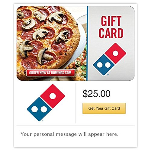 Electronic Gift Card (Dominos  Pizza Gift Cards - E-mail Delivery)