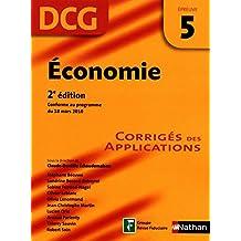Economie - épreuve 5 - DCG corrigés (French Edition)