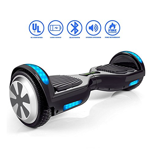 VEEKO Hoverboard with Bluetooth Speaker- UL 2272 Certified Two-Wheel Self Balancing Electric Scooter with Top LED Light