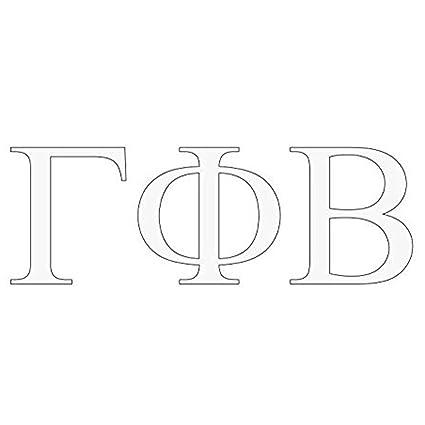 express design group gamma phi beta greek letter window sticker decal