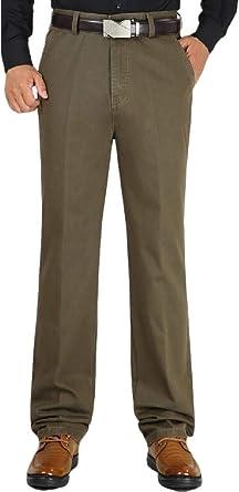 XTX Men Big Tall Solid Color High Rise Classic Business Pants
