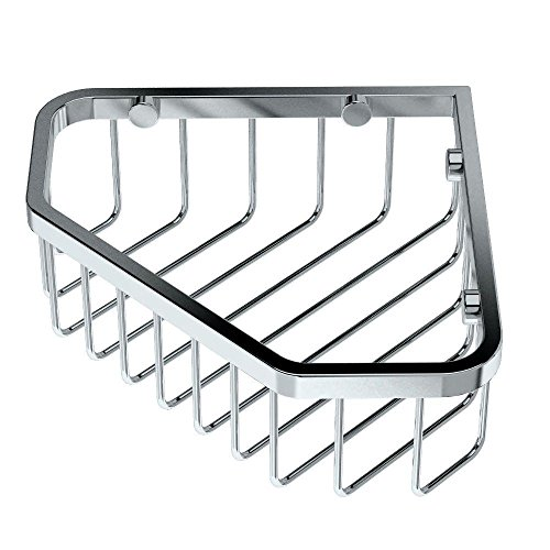 Gatco Satin Shower Caddy - Gatco 1499 8-1/2-Inch Shower or Tub Corner Basket, Chrome