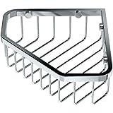 Gatco 1499 8-1/2-Inch Shower or Tub Corner Basket, Chrome
