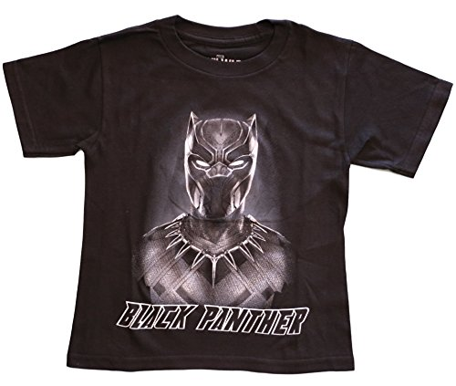 [Marvel Boys' Black Panther Tee, Black (XL(14/16))] (Black Superhero Marvel)