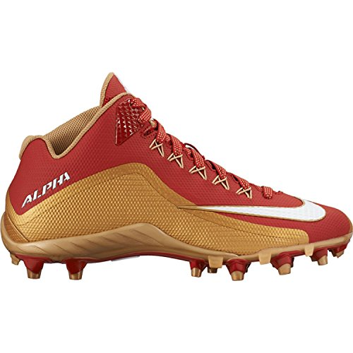 Alpha Nike Or Pro Rouge Td 2 Taille 3 Pro Or De 4 Crampons 12 Hommes 2097e4