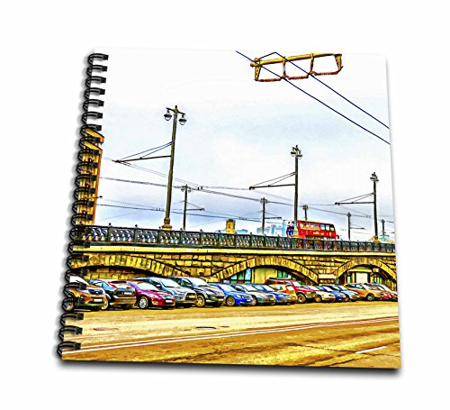 3Drose Alexis Photo Art   Moscow City   Line Of Cars By Moscow Large Stone Bridge  Digital Painting   Drawing Book 8 X 8 Inch  Db 272242 1