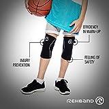 Rehband Rx Knee Support Jr. - Black - Medium - 1