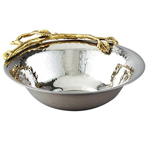 Elegance Golden Vine Hammered Bowl