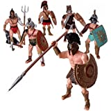 HAPTIME 6 Pcs Roman Gladiator Playsets Toy with...